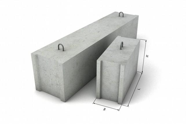 Бетонный блок для фундамента
