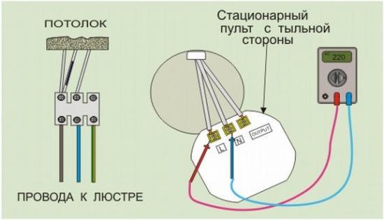 Блок управления люстрами с ДУ