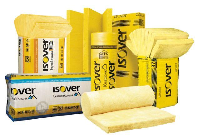 Ассортимент утеплителей Isover