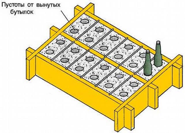 Деревянный ящик с перегородками