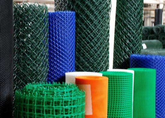 Пластиковая плетеная сетка Рабица