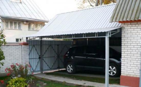 гараж с навесом