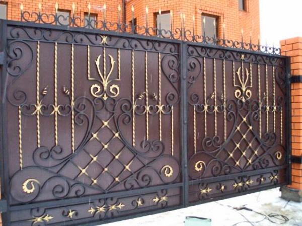 створки ворот
