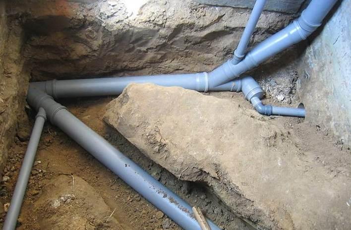 Разводка системы канализации