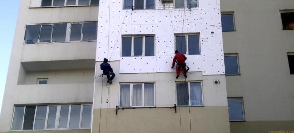 Альпинистское снаряжение для утепления фасада
