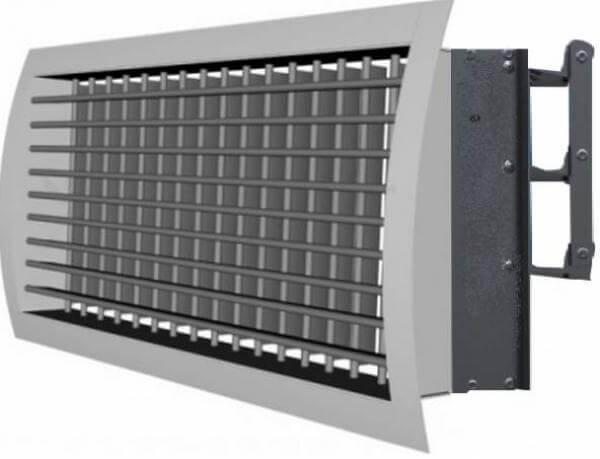 Вентиляционная решетка из алюминия